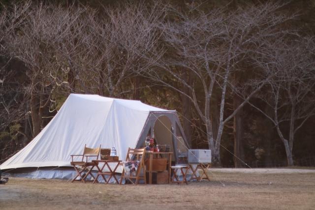 冬のキャンプサイト