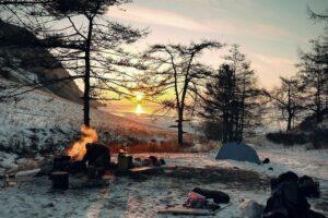 冬キャンプの風景