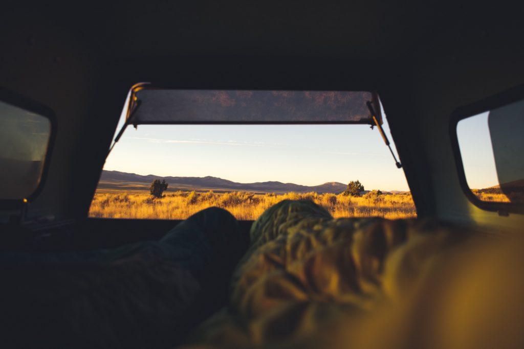 テントの中から見る景色