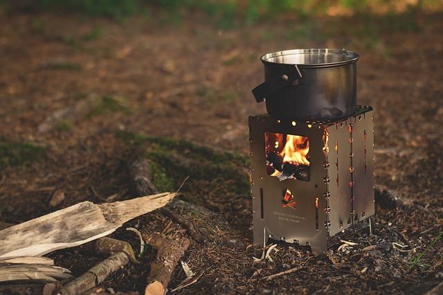 キャンプで料理