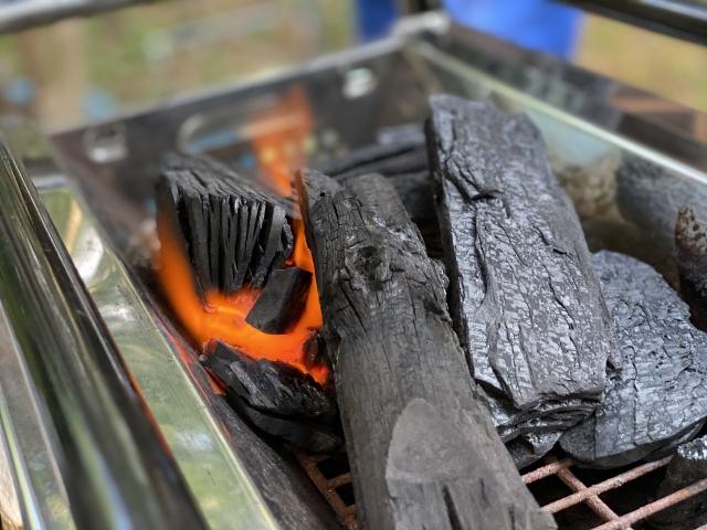 炭の火起こし