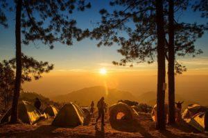 太陽とテント