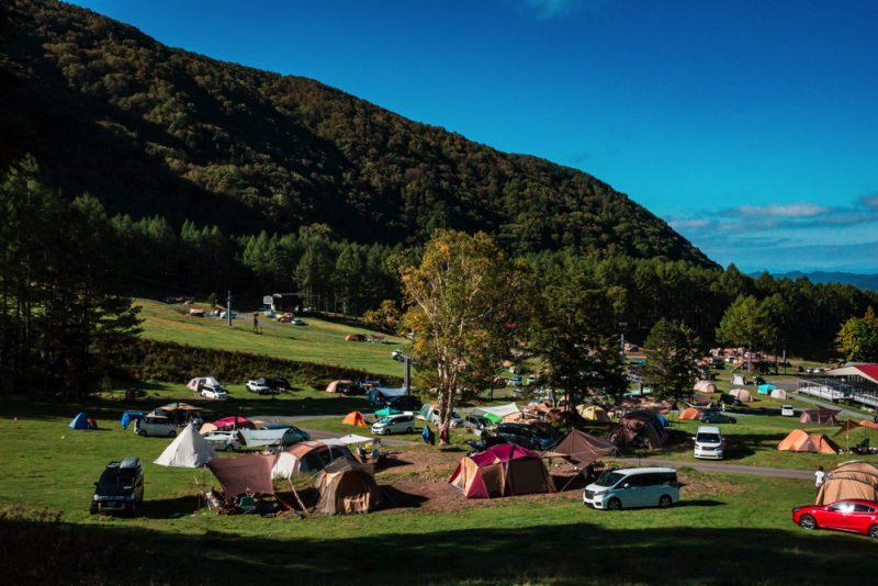 丸沼高原オートキャンプ場の風景