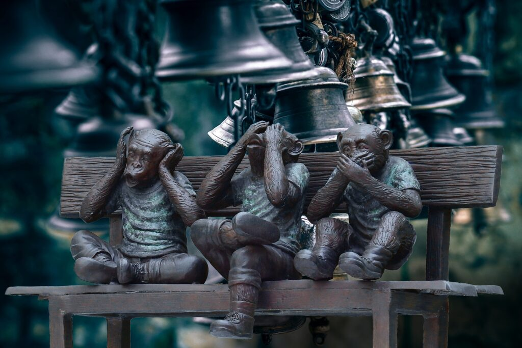 見猿言わ猿聞か猿