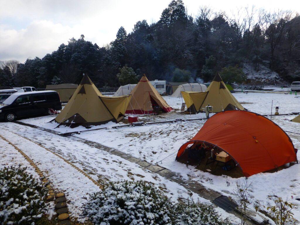 十二坊温泉ファミリーキャンプ場サイト