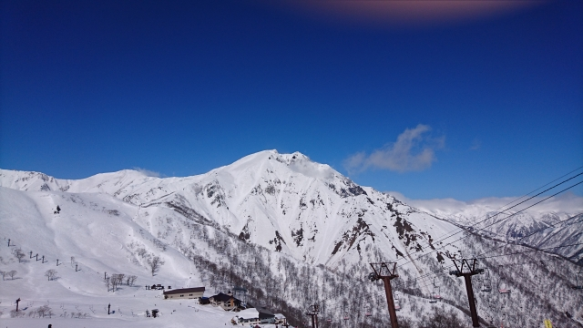 雪の積もった山