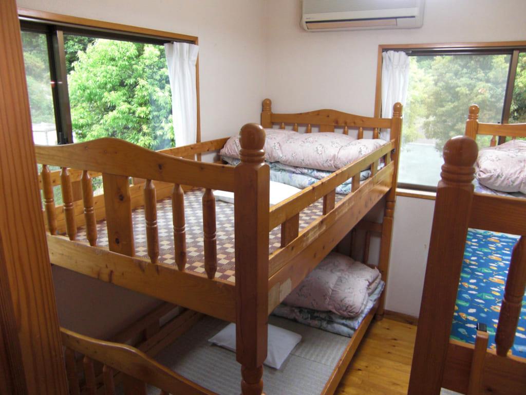グリーンパル日向神峡コテージの寝室