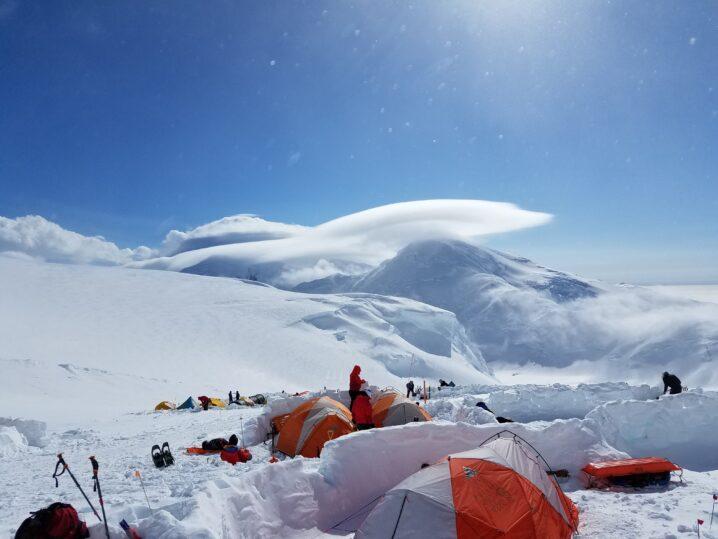冬のキャンプ風景